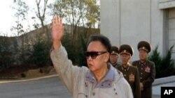 北韓領導人金正日.