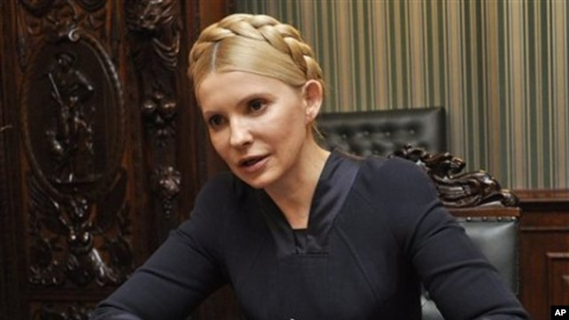 Former Ukrainian prime minister and opposition leader Yulia Tymoshenko speaks during an interview in Kiev, Ukraine (File)