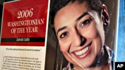 "Zainab Salbi was named ""Washingtonian of the Year"" in 2006 by ""Washingtonian"" Magazine"