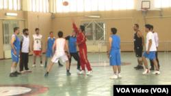 په کابل کې د باسکتبال سیالیو یوه څنډه