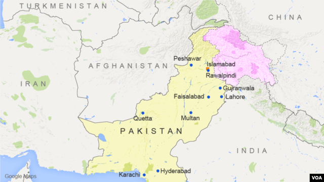 Pakistan, with Islamabad locator