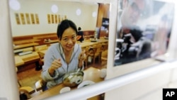 A picture of Al-Jazeera correspondent Melissa Chan is seen at their China bureau office, in Beijing May 8, 2012.