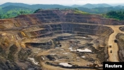 Une mine de cuivre et de cobalt à ciel ouvert à Tenke Fungurume, à 110 kilomètres au nord-ouest de Lubumbashi au Congo, 29 janvier 2013.