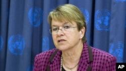 Ellen Margaret Loj, UN Special Representative for Liberia (file photo)