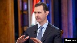 바샤르 알 아사드 시리아 대통령이 19일 시리아 다마스크스에서 미국 폭스 뉴스와 인터뷰를 갖고있다.