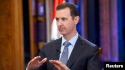 Tổng thống Syria Bashar al-Assad trong một cuộc phỏng vấn với Fox News tại Damascus, ngày 19/9/2013.
