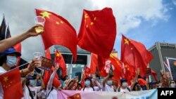 حامیان چین تصویب قانون جدید برای هانگ کانگ را تجلیل کردند