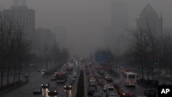 今年1月在北京出現一個星期的霧霾天氣