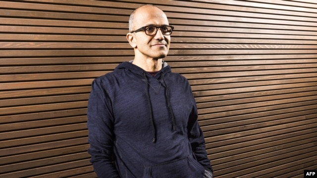 A handout image provided by Microsoft on Feb. 4, 2014 shows the new CEO Satya Nadella.