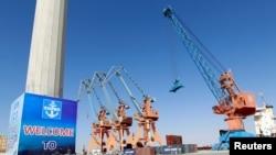 """""""中国-巴基斯坦经济走廊""""的巴基斯坦瓜达尔港(2016年11月13日)"""