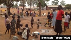 FILE - South Sudan refugees at Kiryandongo settlement camp in Uganda.