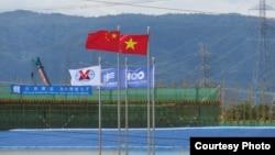 Cờ Trung Quốc đã tung bay ở Vĩnh Tân, và sắp tới là Cà Ná? Ảnh: Lê Anh Hùng