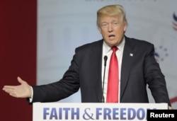 共和党推定总统候选人唐纳德·川普