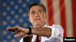 4일 미국 버지니아에서 유세 중인 미트 롬니 공화당 대통령 후보.