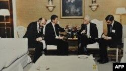 Димитрий Заречняк, Рональд Рейган, Эдуард Шеварнадзе (архивное фото)