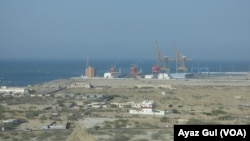Pakistan's newly-built cargo port of Gwadar under construction is jointly developed by Chinese and Pakistani engineers.