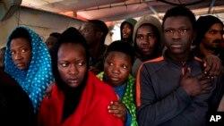 El rescate ocurrió en un período de 24 horas entre sábado y domingo. Libia es uno de las principales zonas de partida.