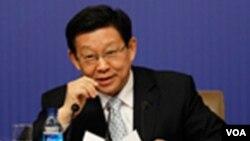 Menteri Perdagangan Tiongkok Chen Deming (7/3).