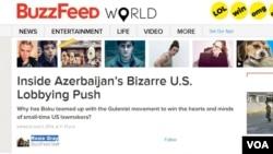Inside Azerbaijan's Bizarre U.S. Lobbying Push - BuzzFeed