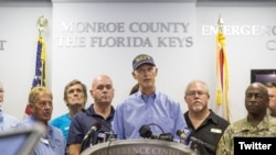 Thống đốc tiểu bang Florida Rick Scott nói về cơn bão Irma.