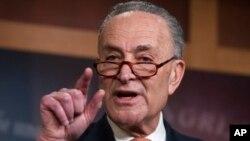 Senator Chuck Schumer, ketua fraksi minoritas Demokrat di Senat AS (foto: dok).