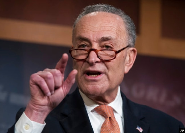 Chuck Schumer, demócrata por Nueva York,líder de la minoría del Senado de EE.UU.