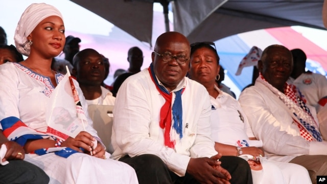 Opposition presidential candidate Nana Akufo-Addo during his final campaign rally in Accra, December 5, 2012.