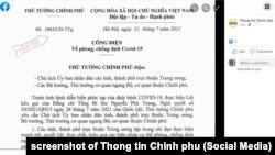 Thủ tướng Việt Nam ra chỉ thị hôm 31/7/2021 về các biện pháp chống dịch COVID-19.