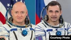 Скотт Келли и Михаил Корниенко. Фото НАСА
