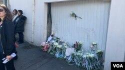 Kazanın yaşandığı yere çiçekler bırakıldı