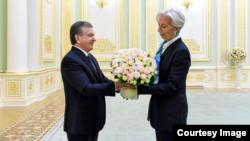 Toshkent, 17-may, 2019: Prezident Mirziyoyev va Xalqaro Valyuta Jamg'armasi rahbari Kristin Lagard