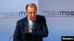 سرگئی لاوروف وزیر خارجه روسیه در کنفرانس امنیتی مونیخ، آلمان - ۳۰ بهمن ۱۳۹۵
