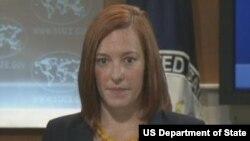 美国国务院发言人莎琪(美国国务院视频截图)