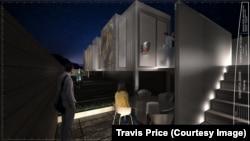 特拉维·普莱斯集装箱建筑艺术馆设计效果图