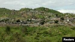 Une vue générale sur la région minière de Manyara, en Tanzanie, le 31 mai 2008.