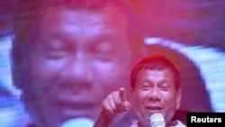 菲律宾总统候选人杜特尔特(资料照片)