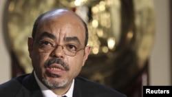 Ethiopia's Prime Minister Meles Zenawi, September 17, 2011