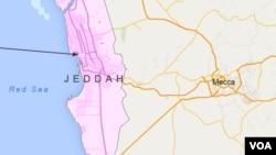 沙特阿拉伯吉達地理位置圖