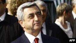 Президент Армении Серж Саргсян. Ереван. 31 марта 2011 года
