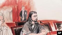Haroon Aswat, devant la Justice à New York (AP Photo/Elizabeth Williams)