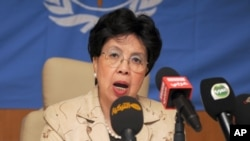 "FILE - Dr. Margaret Chan, director-general of the World Health Organization, says cigarette companies use various tactics to try to undermine anti-tobacco laws, but ""we should not give up"" until they're defunct."