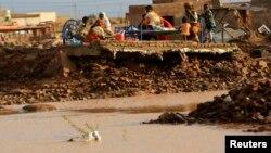 2013年8月6日,蘇丹強降雨和洪水,首都喀土穆附近的很多住房被大雨沖毀,或遭受極大破壞。