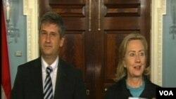 Američki državni sekretar Hillary Clinton i austrijski ministar vanjskih poslova Michael Spindelegger