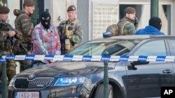 Polisi mengamankan gedung pengadilan di Brussels, Belgia (foto: ilustrasi).