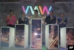 ບໍລິສັດ CAMCE ຈາກຈີນຈັດງານເປີດຕົວໂຄງການ Vientiane New World ຢ່າງເປັນທາງການໃນກາງເດືອນພຶດສະພາ, 2012 ທີ່ຜ່ານມານີ້