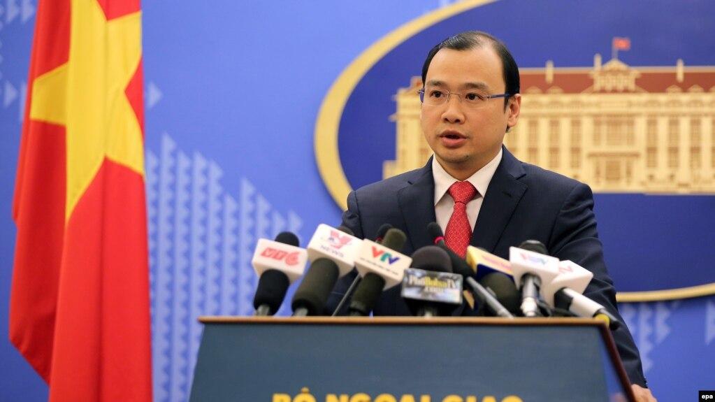Người phát ngôn Bộ Ngoại giao Việt Nam Lê Hải Bình (ảnh tư liệu, 2/2016)