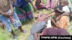 Seorang korban tewas usai kontak tembak antara Satgas Gabungan TNI-Polri dengan KSB di Kabupaten Intan Jaya. Selasa 18 Februari 2020. (Foto: TPNPB-OPM)