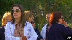 21일 파업 중인 그리스 병원 의료진.