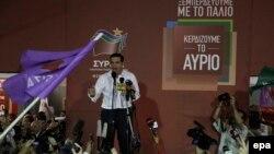 Lider Sirize Aleksis Cipars govori nakon pobede njegove stranke na vanrednim parlamentarnim izborima u Grčkoj
