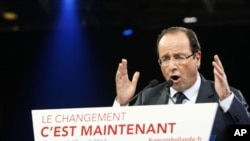 Francois Hollande, April 17, 2012.